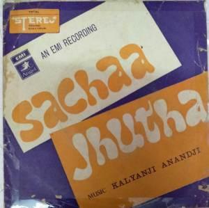 Sachaa -Jhutha Hindi Film EP Vinyl Record by Kalyanji Anandji www.mossymart.com 1