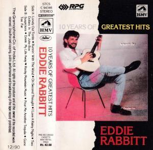 Eddie Rabbitt 10 Years of Greatest English album Audio Cassette www.mossymart.com 1