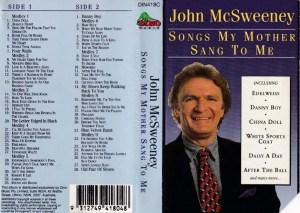 John Mc Sweeney English album Audio Cassette www.mossymart.com 1
