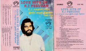 Love Hits Of K J Yesudas English album Audio Cassette www.mossymart.com 1