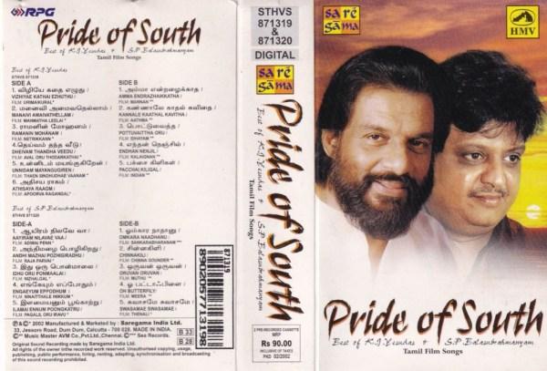 Pride of South Tamil Film hits Audio Cassette by Jesudas - SP Balasubramaniam www.mossymart.com 1