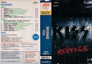 Revenge Kiss English Album ( western music) Audio Cassette www.mossymart.com 1