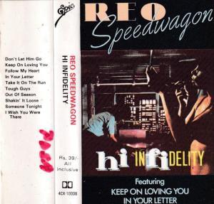 Rio Speedwagon Hi Infidelity English album Audio Cassette www.mossymart.com 1