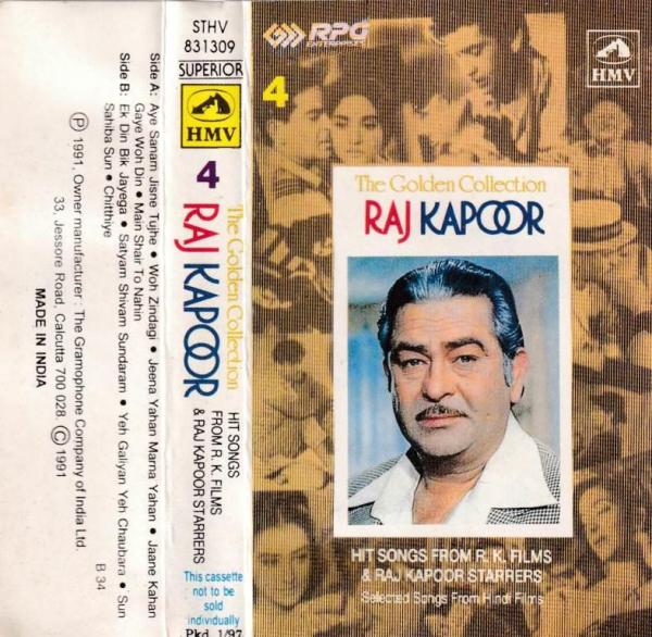 The Golden Collection Hindi Film hits Audio Cassette by Rajkapoor www.mossymart.com 2