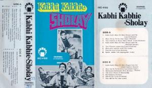 Kabhi Kabhie Sholay Hindi FIlm Audio Cassette www.mossymart.com 1