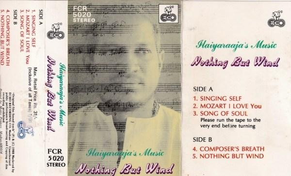 Nothing But Wind Tamil Film Audio Cassette by Ilayaraaja www.mossymart.com 2