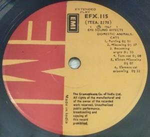 Sound Effects Domestic Animals EP Vinyl Record www.mossymart.com 2