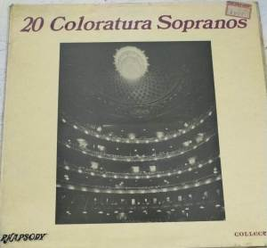 20 Coloratura Sopranos English -Western Album LP Vinyl Record www.mossymart.com 1