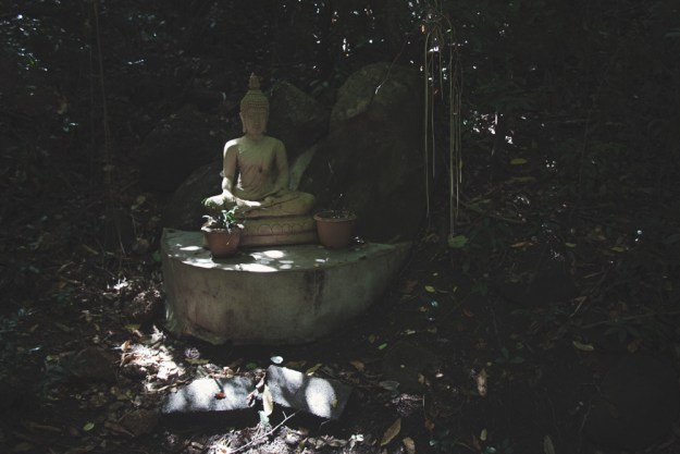 Review of The Sanctuary yoga retreat, spa and detox resort in Haad Tien, Koh Phangan, Thailand. Hill side wooden bungalow in the jungle. Eco resort.