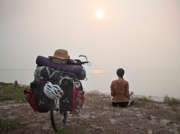 Meditation and bicycle touring, Penang, Malaysia