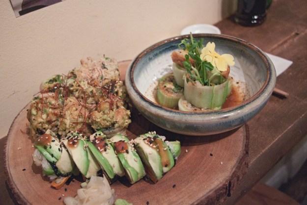 sushi momo vegan restaurant in montreal, quebec, canada