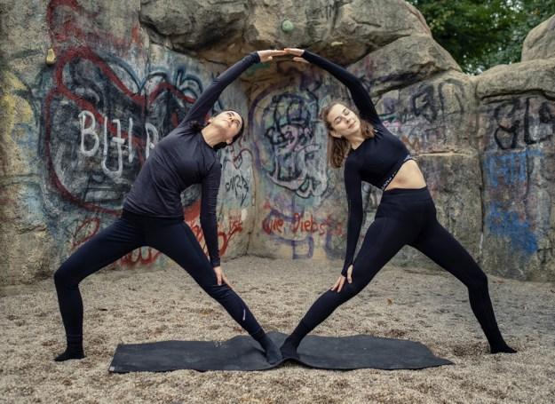 Partner Yoga Reverse Warrior