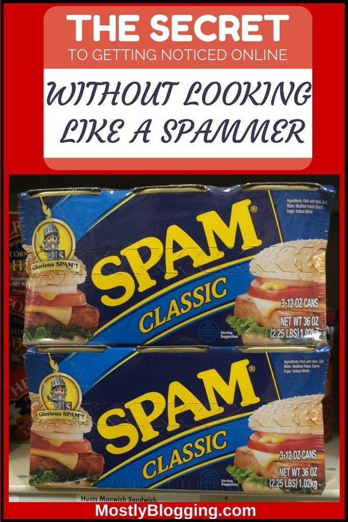 Bloggers don't have to look like spammers