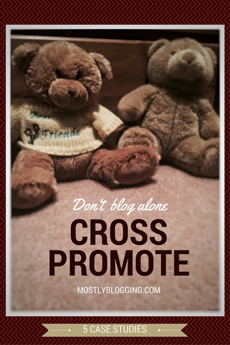 Use cross promotion to get help #blogging