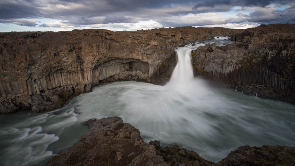Behind the Scenes shooting Aldeyjarfoss waterfall, North Iceland