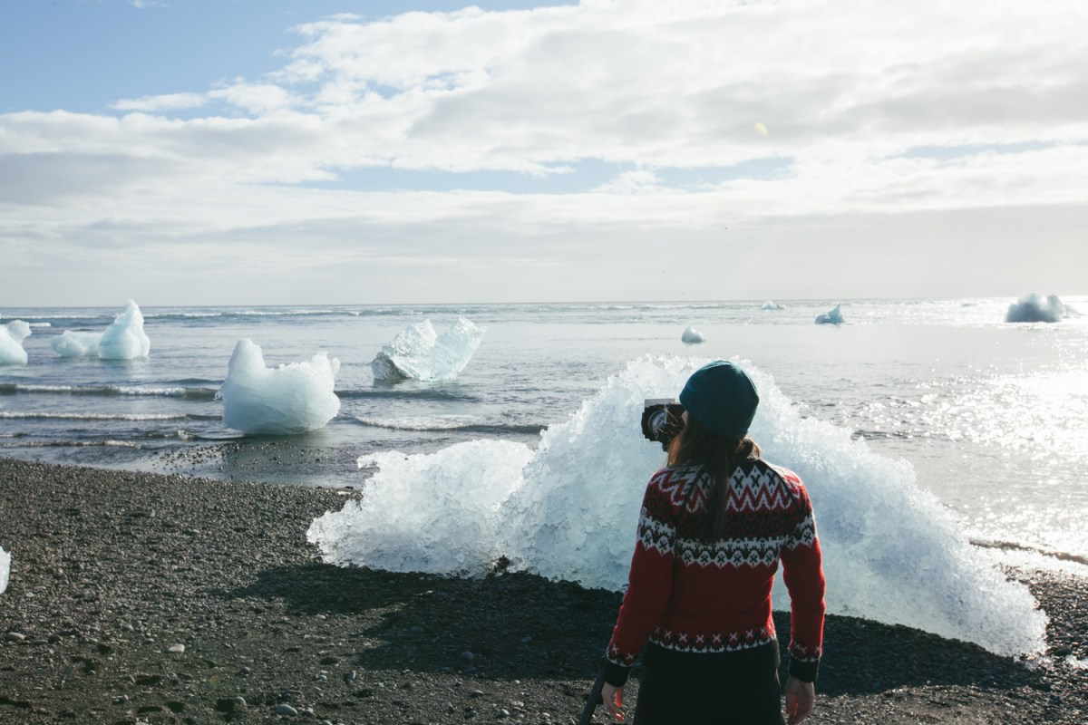 Behind the Scenes photographing at Jökulsárlón Glacier Lagoon, South Iceland