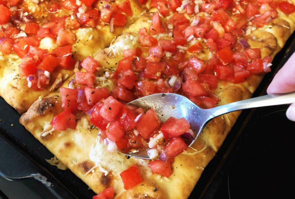 Tomato Bruschetta Pizza – Good Enough To Share