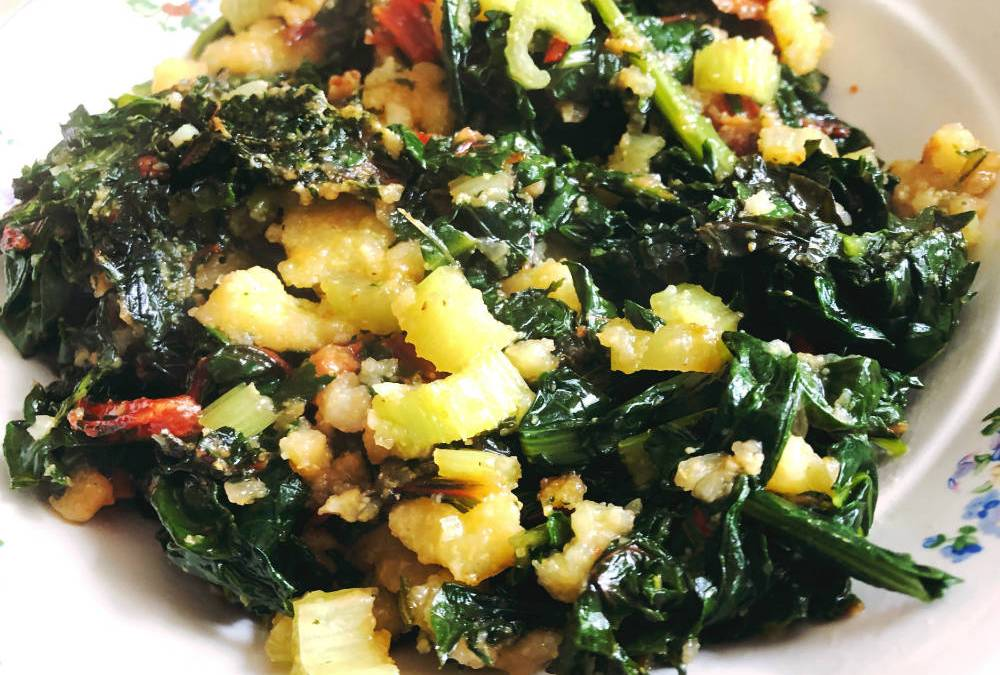 Polenta with Wild Greens – Southern Italian Comfort Food