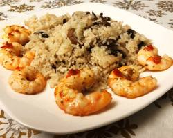 Spicy Calabrian shrimp with rice