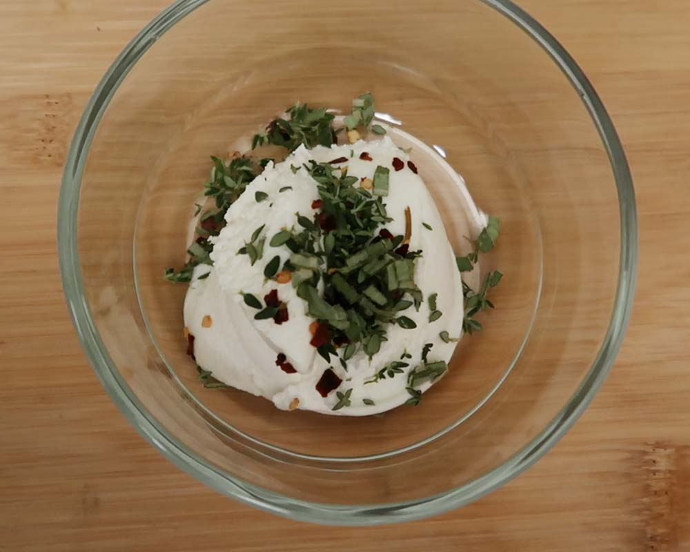 ricotta with herbs