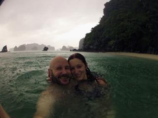 Swimming in the rain!