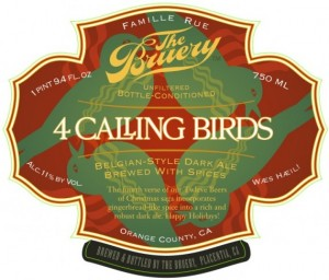 The Bruery 4 Calling Birds Label