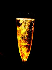 Glowing champagne