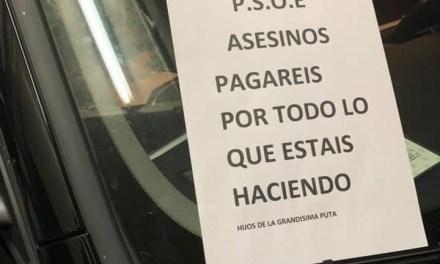 Denuncian insultos y amenazas contra miembros del PSOE