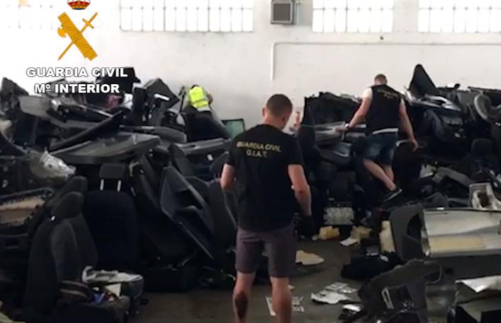 Desarticulado un grupo delictivo especializado en el robo y despiece de vehículos que operaba en la zona sur
