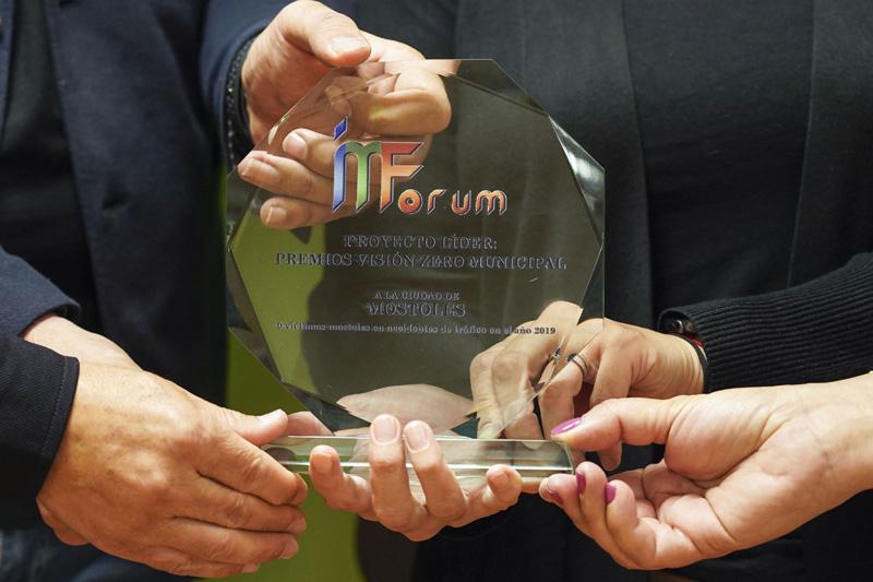 Móstoles recibe el Premio Visión Zero Municipal por cero fallecidos en accidentes de tráfico en 2019