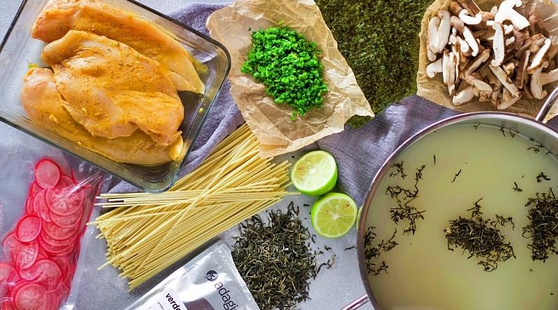 Ramen con té verde de jazmín