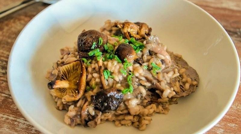 Este risotto de champiñones shiitake es de Javier Lizama