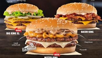 El trío de hamburguesas premium de Burger King se llama The Kings Collection