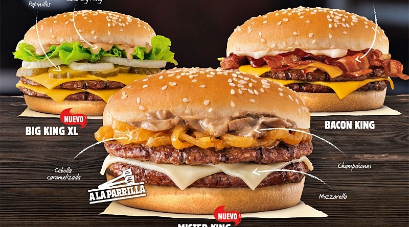 El trío de hamburguesas premium de Burger King se llama The Kings Collection