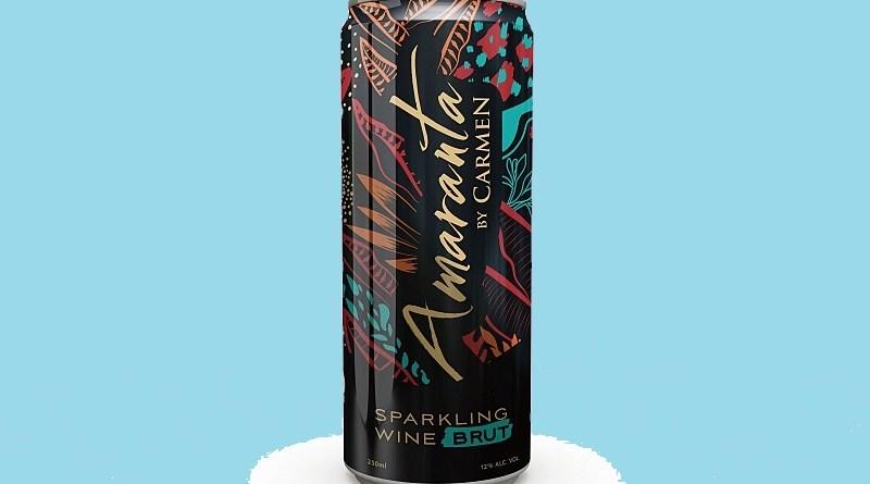 Amaranta Brut es el primer espumante en lata de Viña Carmen