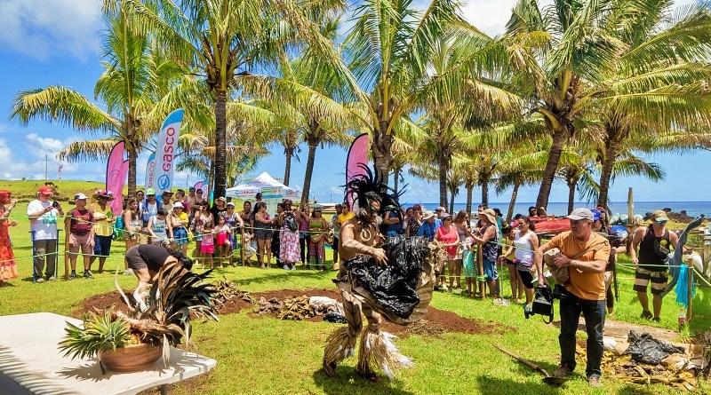 La fiesta Tapati en Rapa Nui incluye una competencia gastronómica