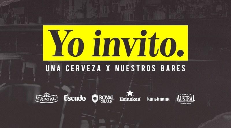 """Como una forma de apoyar a aquellos bares y restaurantes actualmente cerrados, CCU lanzó la campaña """"Yo Invito. Una cerveza por nuestros bares"""""""