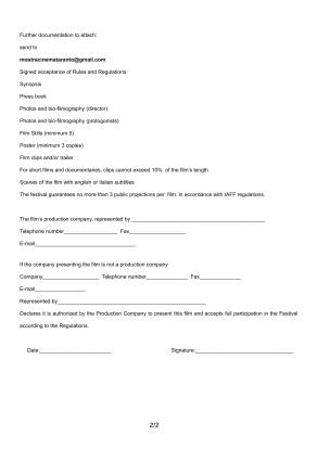 ENTRY FORM 2017-2