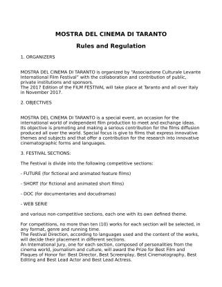 RULES AND REGULATION MCT 2017-1