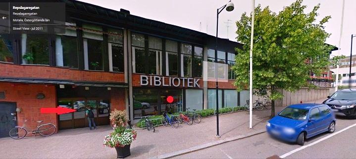 Biblioteksingangen
