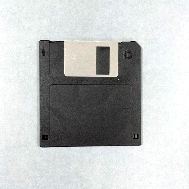 Black floppy disc