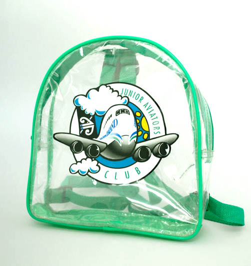 clear plastic Backpack Air New Zealand Junior Aviators