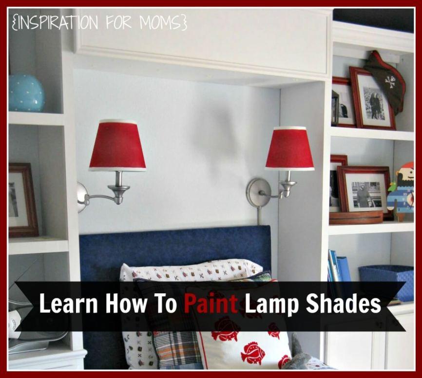 DIY, Painted Lamp Shades
