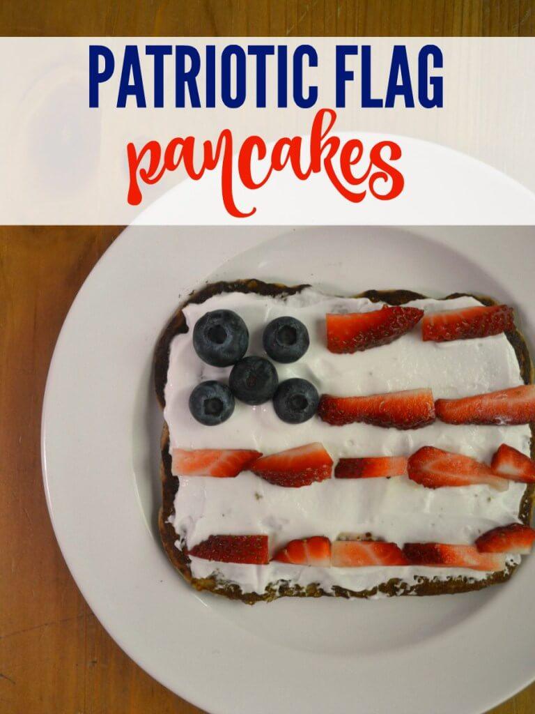 patriotic foods, flag pancakes