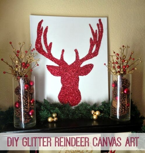 Week 98 Sunday's Best Featured Post DIY Glitter Reindeer from Inspiration For Moms
