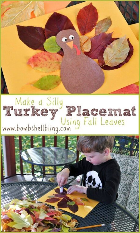 Week 98 Sunday's Best Featured Post Thanksgiving Leaf Placemat from Bombshell Bling