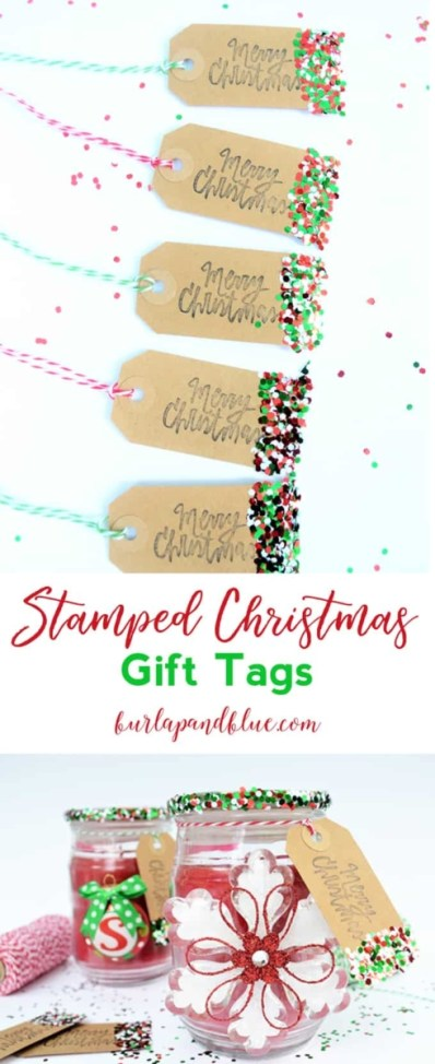 Week 156 Sunday's Best - Christmas Gift Tags from Burlap and Blue