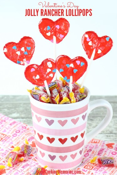 Week 161 Valentine's Day Jolly Rancher Lollipops from Home Cooking Memories