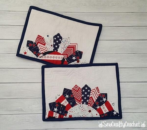 Week 235 - Patriotic Mug Rugs from Sew Crafty