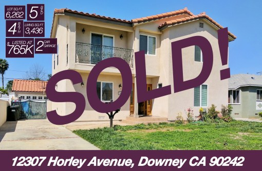 SOLD! 12307 Horley Avenue, Downey CA 90242 | 5 BED | 4 BATH | +3.4K SQ FT | +6.2K LOT
